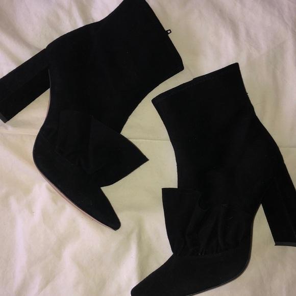 Zara Shoes - Zara Black High Heel suede boots